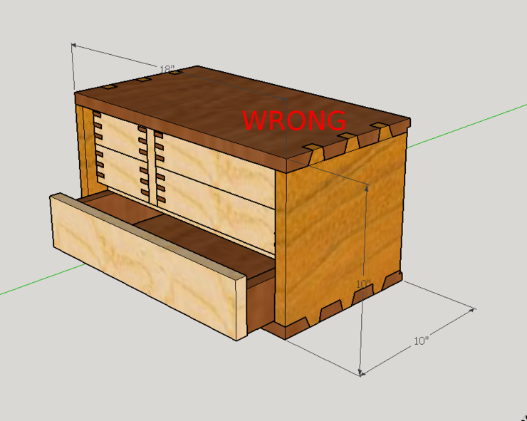 rendering of chest with bottom drawer open and new bottom drawer